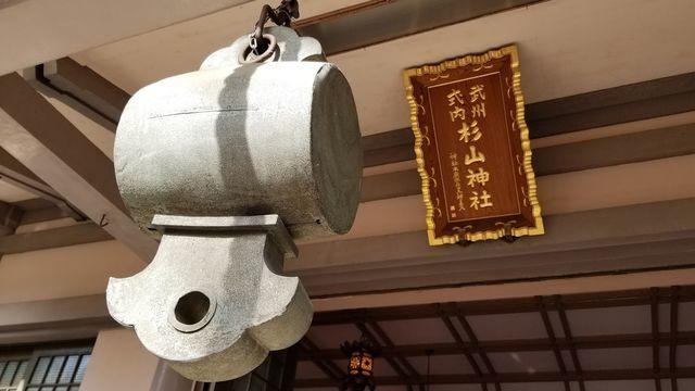 戸部杉山神社の扁額