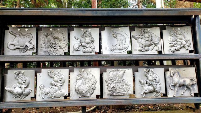 北新羽総鎮守杉山神社の瓦