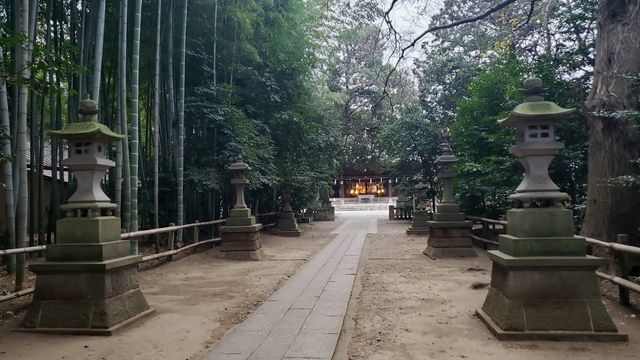 喜多見氷川神社の参道