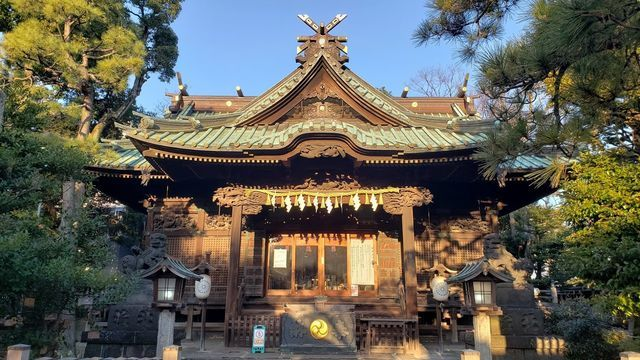 荏原神社の拝殿