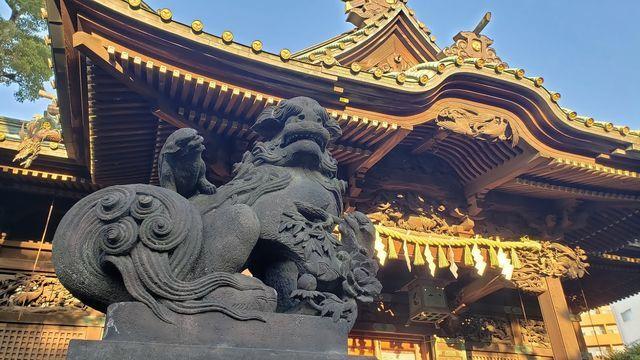 荏原神社の狛犬