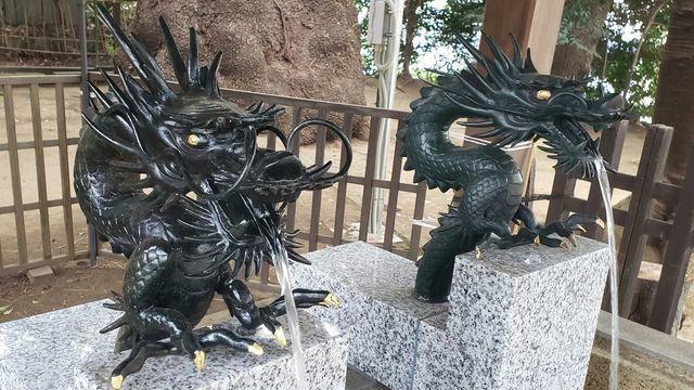 等々力玉川神社の手水舎