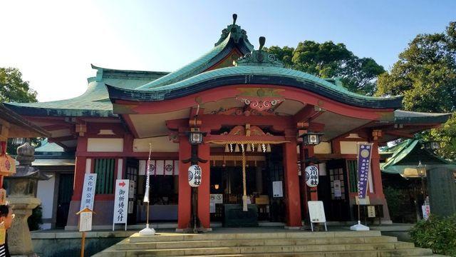 昔の品川神社(青い屋根)