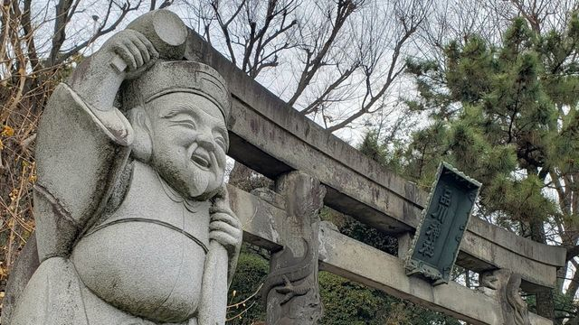 品川神社の鳥居とダイコク様