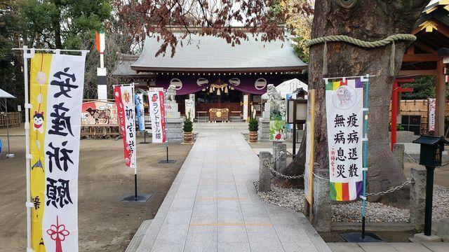 新田神社の境内
