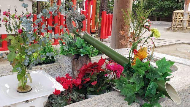 新田神社の手水舎