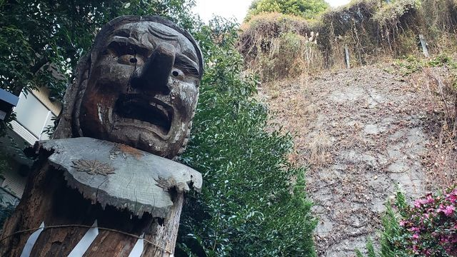 大綱金比羅神社の天狗様