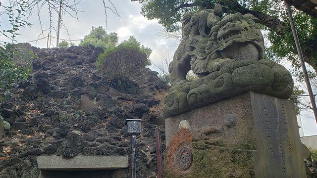 品川神社境内社/浅間神社の狛犬