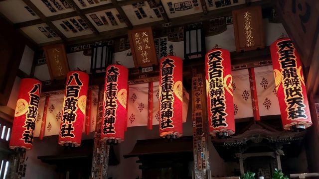 品川神社境内社の提灯
