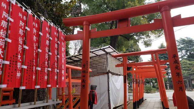 品川神社境内社/阿那稲荷神社の千本鳥居
