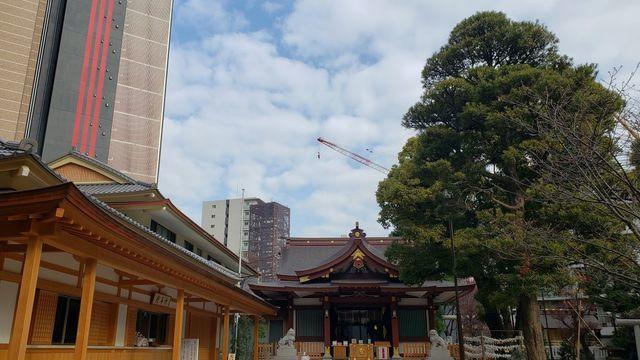 蒲田八幡神社の境内