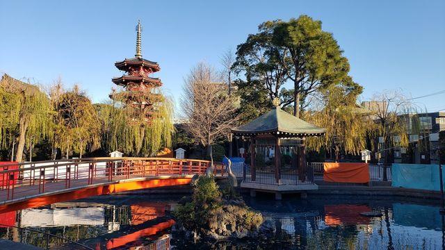 川崎大師のつるの池とやすらぎの橋