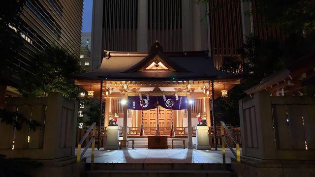 福徳神社の夜景