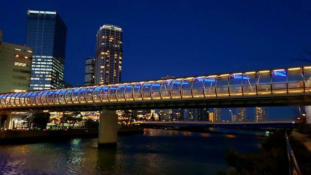 高島水際線公園からの夜景