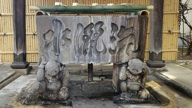 溝口神社の手水舎