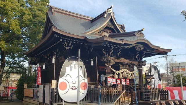 溝口神社の拝殿