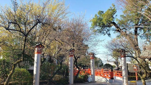 鈴鹿明神社の駐車場付近