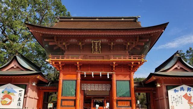 富士山本宮浅間神社の楼門