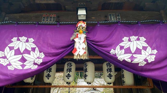 修禅寺正月飾り