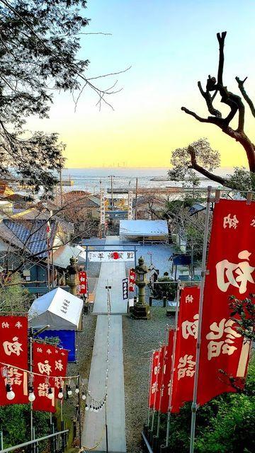 走水神社の境内