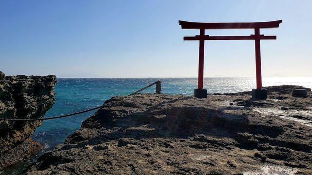 白浜神社の鳥居