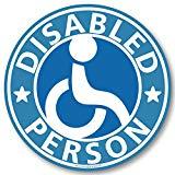 車椅子マーク ステッカー(ブルー)/ 福祉車両 車いす 車イス 身障者マーク
