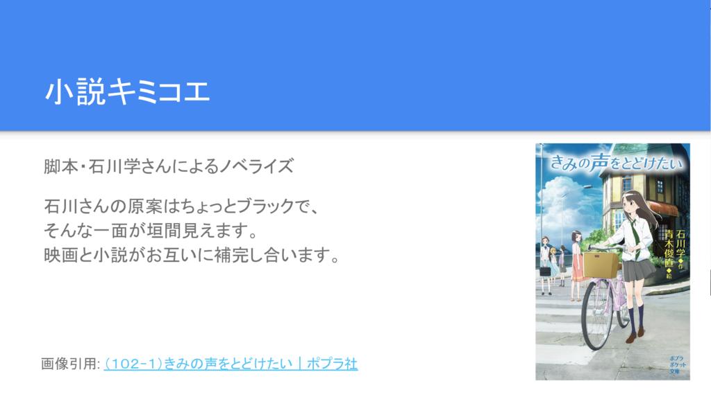 小説キミコエ