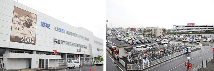 駐車場が充実している浦和美園駅