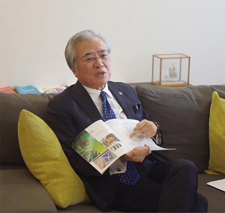 「INIAD」設立について語る坂村教授