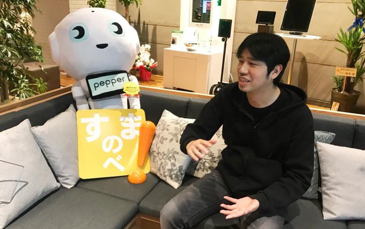 制作したロボアプリへの想いやこだわったところを語る田野氏