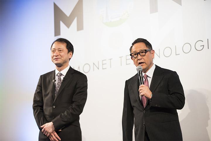 MONET Technologies 代表取締役社長 兼 CEO 宮川潤一氏とトヨタ自動車株式会社 代表取締役社長 豊田章男氏