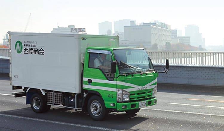 西原商会のトラック