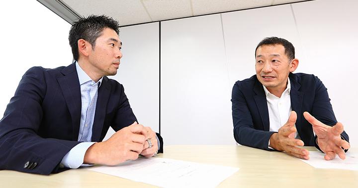 5Gについて対談する湧川氏と有坂氏
