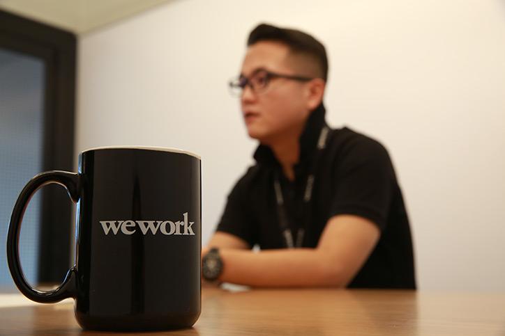 WeWorkでのワークスタイルについて語る竹内氏