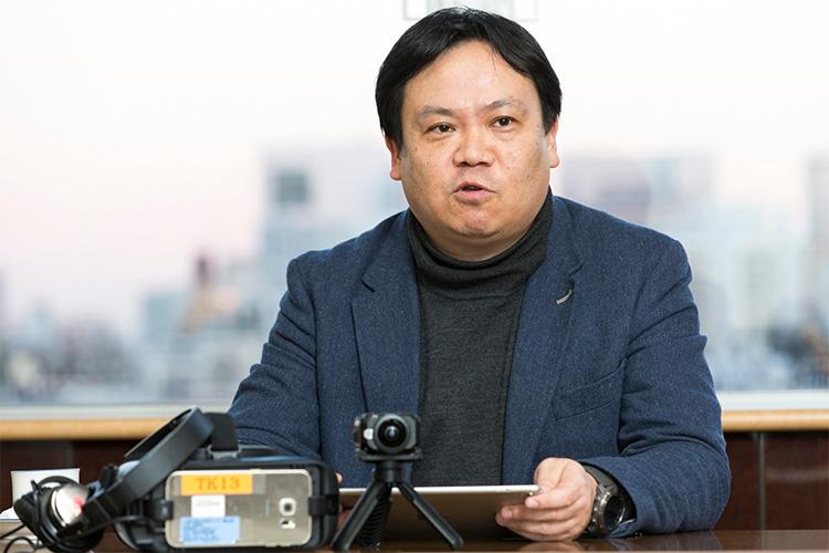 ソフトバンクVRソリューションについて語る小沢氏