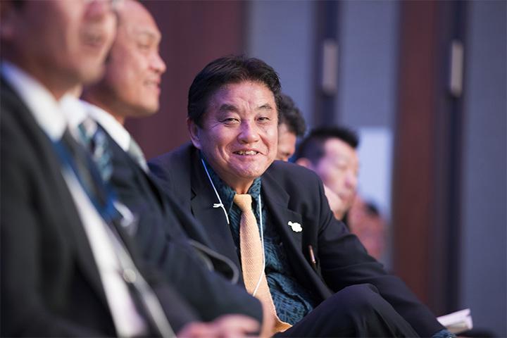 会場に訪れていた名古屋市長・河村たかし氏