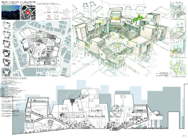 東京工業大学建築学科卒業制作/都市の表層を占拠せよ05(2008.2)