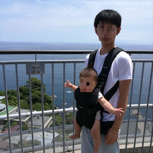 江の島展望灯台と赤ちゃん