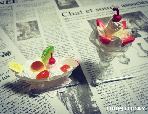 プリンアラモード&チョコレートパフェの食玩
