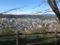 羊山公園から秩父大橋の方を眺める