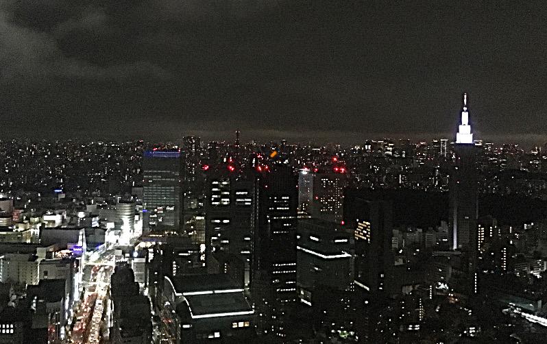 パークハイアット東京夜景