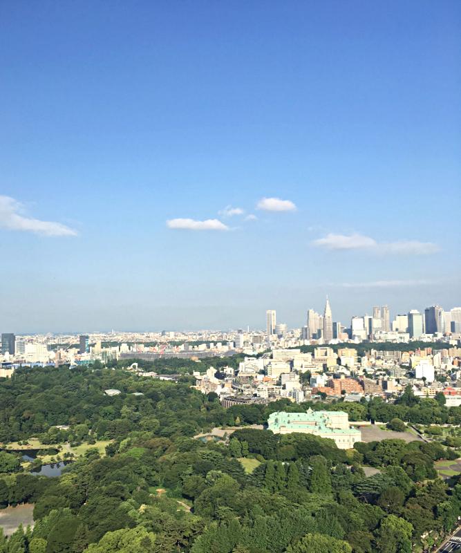 ホテルニューオータニ東京 タワーブッフェ朝食 景色