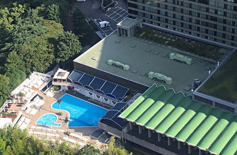 ホテルニューオータニ東京 タワーブッフェ朝食 景色3