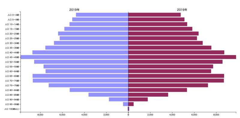 [人口ピラミッド][人口構成比][2019年]