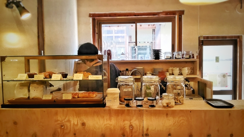 Kocco Cafeのカウンター