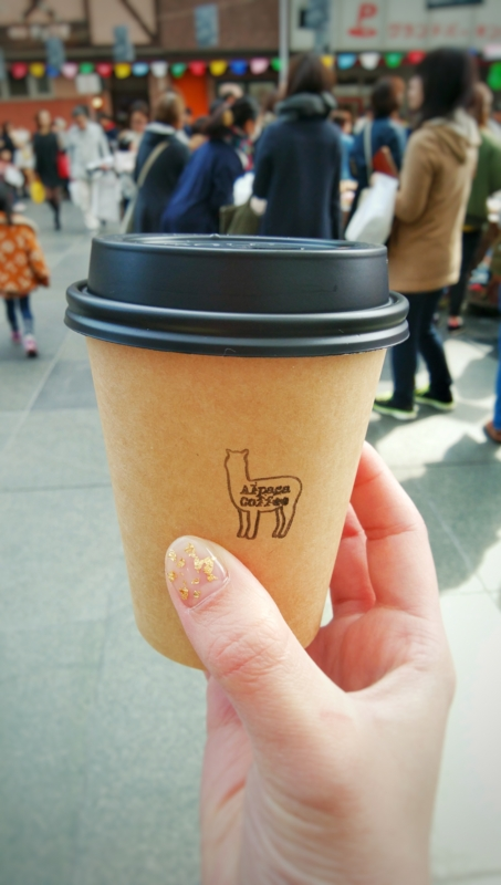 とやまベーカリーマルシェのAlpaca Coffeeのホットコーヒー