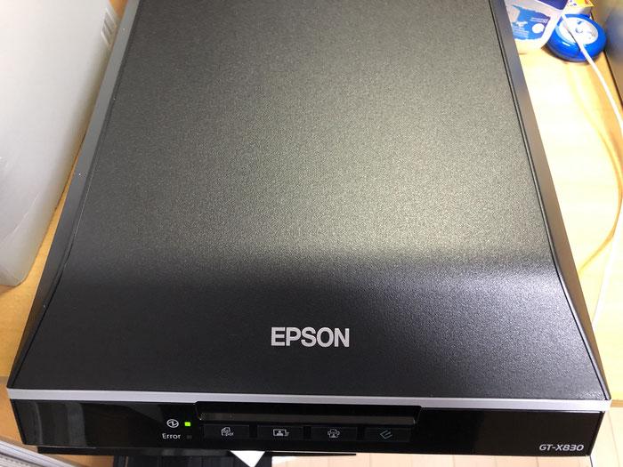新しいスキャナは、EPSONのGT-X830です。