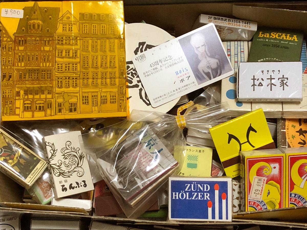 集めたマッチを入れている、私の「マッチ箱」