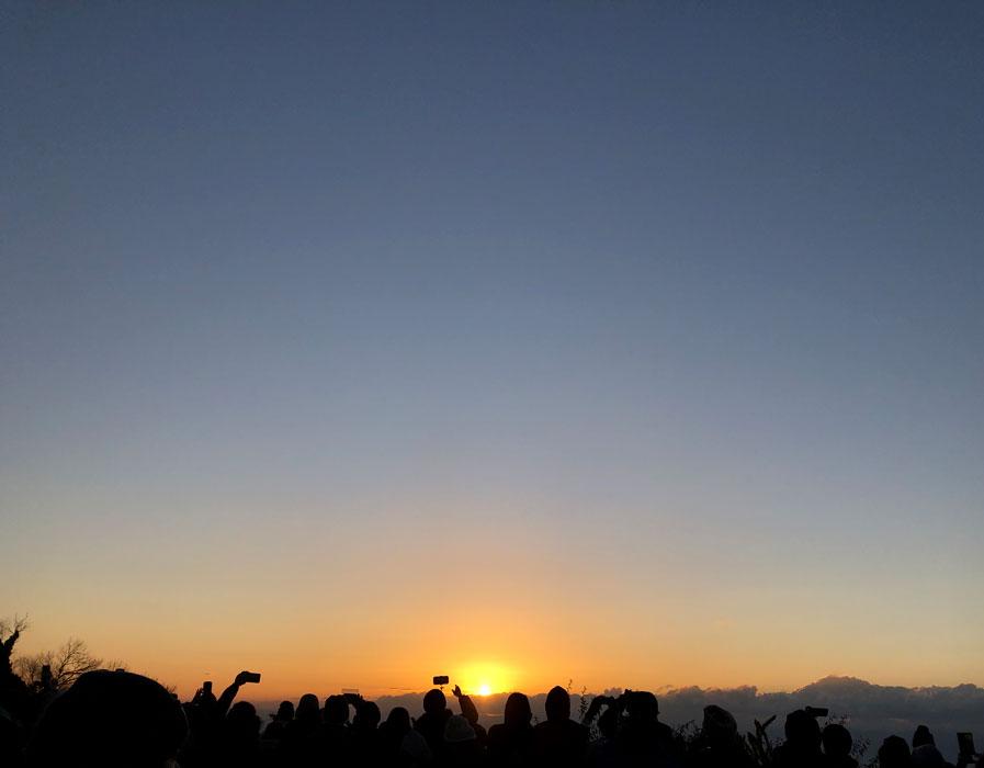 初日の出(神戸布引ハーブ園)