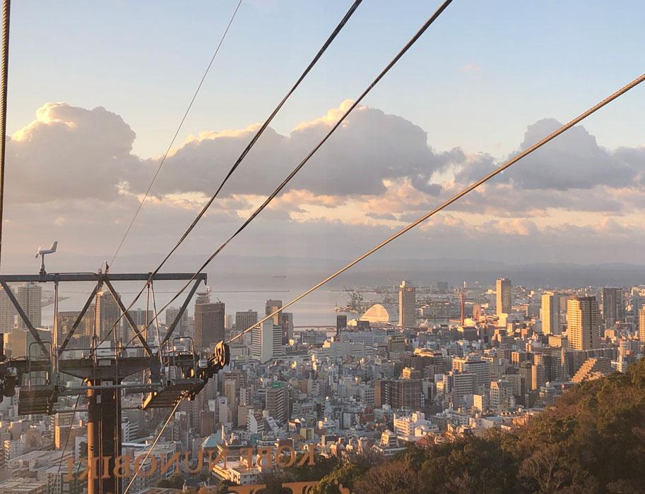 神戸布引ロープウェイからの景色